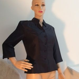 Adrianna Papell 100% Silk Blouse 6